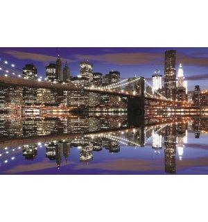 Fototapet: Brooklyn Bridge nocturn (2) - 184x254 cm