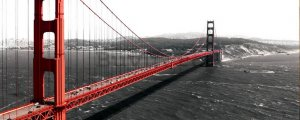 Fototapet: Golden Gate Bridge (1) - 104x250 cm