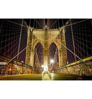 Fototapet: Brooklyn Bridge nocturn - 254x368 cm