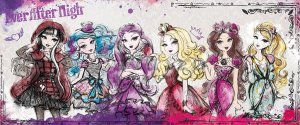 Fototapet: Mattel Ever After High (5) - 104x250 cm