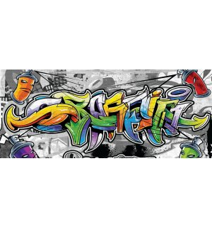 Fototapet: Grafitti color - 104x250 cm