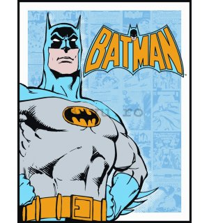 Placă metalică - Batman (Retro Panels)
