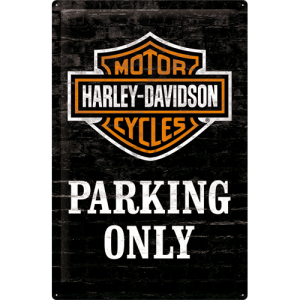 Placă metalică - Harley-Davidson (Parking Only)