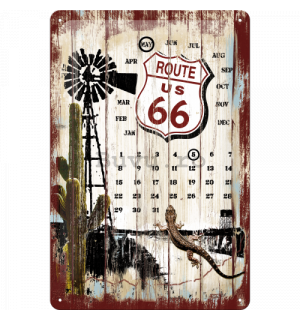 Placă metalică - Route 66 Survivor (calendar)