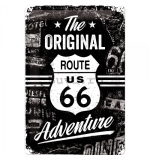 Placă metalică - Route 66 (The Original Adventure)