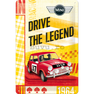 Placă metalică - Mini Cooper (Drive the Legend)
