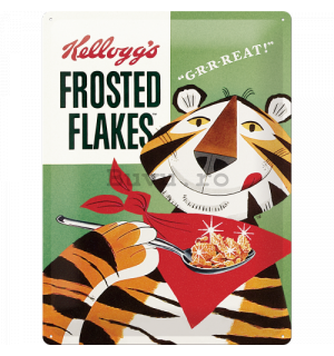 Placă metalică - Frosted Flakes