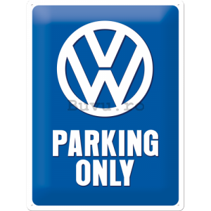 Placă metalică - Volkswagen Parking Only
