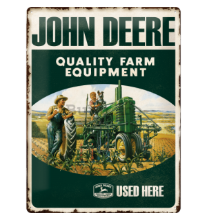 Placă metalică - John Deere (Quality Farm Equipment)