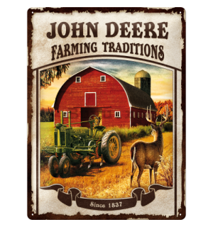Placă metalică - John Deere (Farming traditions)