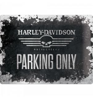 Placă metalică - Harley-Davidson Parking Only (2)