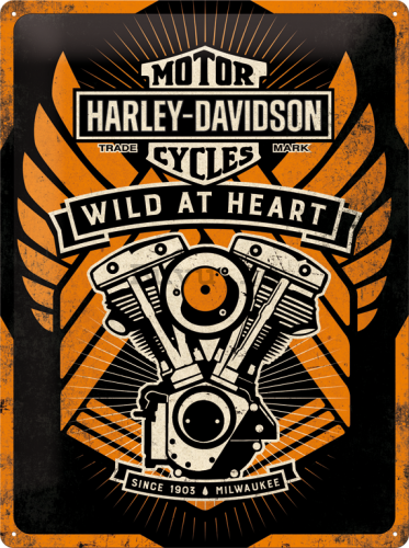 Placă metalică - Harley-Davidson (Wild at Heart)
