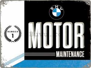 Placă metalică - BMW Motor Maintenance