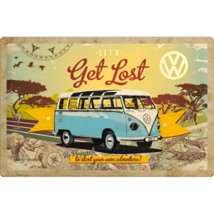 Placă metalică - VW Let's Get Lost