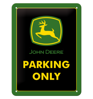 Placă metalică - John Deere Parking Only