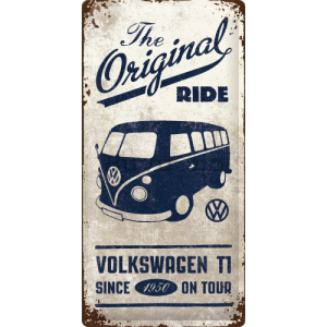 Placă metalică: VW The Original Ride - 50x25 cm