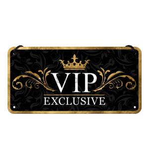 Placa metalica cu snur - VIP Exclusive