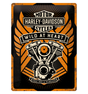 Placă metalică - Harley-Davidson Wild At Heart (Special Edition)