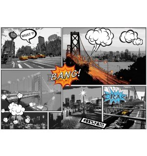 Fototapet: New York (Comics) - 254x368 cm