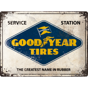 Placă metalică: Good Year Tires (Service Station) - 30x40 cm