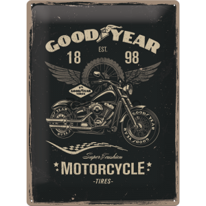 Placă metalică: Good Year (Motorcycle) - 40x30 cm