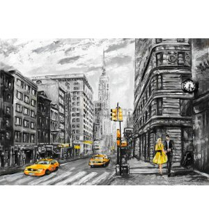 Tablou canvas: New York (pictat) - 75x100 cm