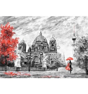 Tablou canvas: Berlin (desenat) - 75x100 cm