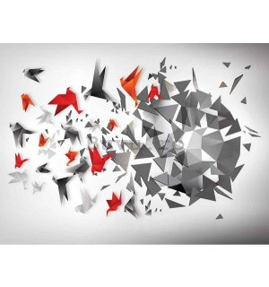 Tablou canvas: Origami birds (7) - 75x100 cm