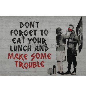 Tablou canvas: Dont Forget to Eat Your Lunch (graffiti) - 75x100 cm