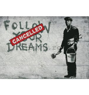 Tablou canvas: Follow Your Cancelled Dreams (graffiti) - 75x100 cm