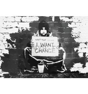 Tablou canvas: I Want Change (graffiti) - 75x100 cm