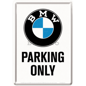 Ilustrată metalică - BMW Parking Only White