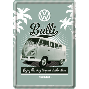 Ilustrată metalică - VW Bulli (Enjoy the Way to Yours Destination)