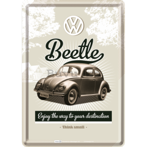 Ilustrată metalică - VW Beetle (Enjoy the Way to Yors Destination)