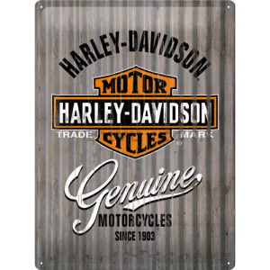 Placă metalică: Harley-Davidson (metal genuine) - 40x30 cm