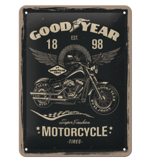 Placă metalică: Good Year (Motorcycle) - 20x15 cm