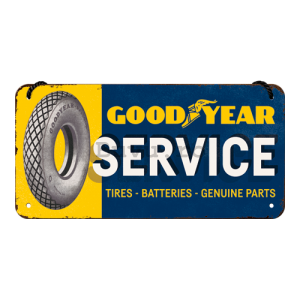 Placa metalica cu snur: Good Year Service - 10x20 cm