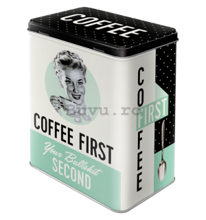 Cutie metalică L - Coffee First