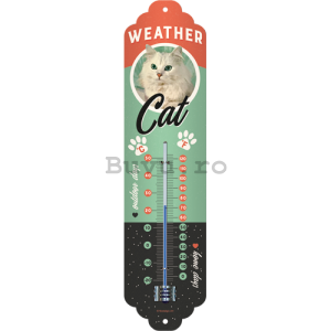 Termometru retro - Weather Cat