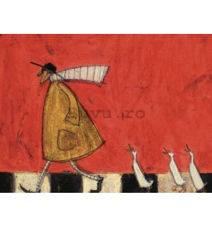Tablou canvas - Sam Toft, Crossing with Ducks
