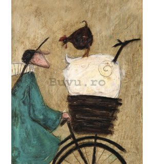 Tablou canvas - Sam Toft, Taking the Girls Home