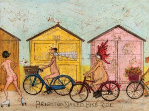 Tablou canvas - Sam Toft, Brighton Naked Bike Ride