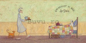Tablou canvas - Sam Toft, Breakfast in Bed For Doris