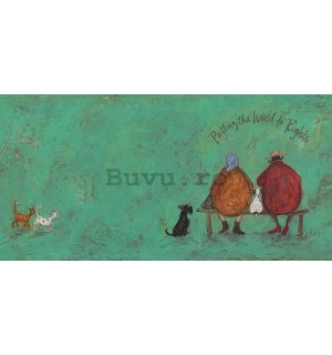 Tablou canvas - Sam Toft, Putting The World To Rights