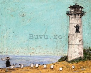 Tablou canvas - Sam Toft, Seven Sisters and a Lighthouse