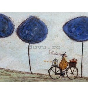 Tablou canvas - Sam Toft, Freewheelin' with Joyce Greenfields and the Felix 3