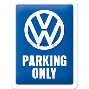 Placă metalică: VW Parking Only - 20x15 cm