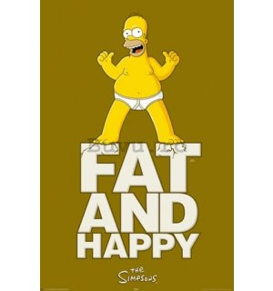 Poster - Simpsons fat and happy (1)