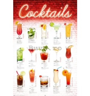 Poster - Cocktails english