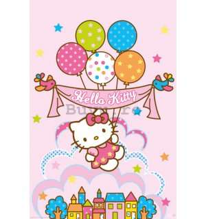 Poster - Hello Kitty Balloons